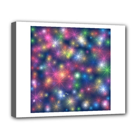 Starlight Shiny Glitter Stars Deluxe Canvas 20  X 16   by yoursparklingshop