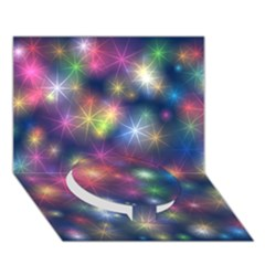 Starlight Shiny Glitter Stars Circle Bottom 3d Greeting Card (7x5)  by yoursparklingshop