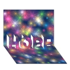 Starlight Shiny Glitter Stars Hope 3d Greeting Card (7x5)  by yoursparklingshop