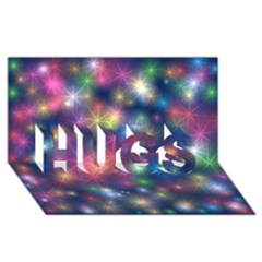 Starlight Shiny Glitter Stars Hugs 3d Greeting Card (8x4)