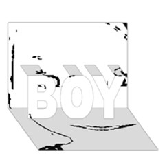 Portrait Black And White Girl Boy 3d Greeting Card (7x5) by yoursparklingshop