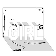 Portrait Black And White Girl Girl 3d Greeting Card (7x5)  by yoursparklingshop