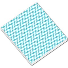 Blue White Chevron Small Memo Pads by yoursparklingshop