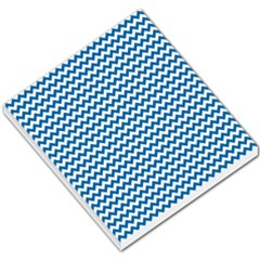 Dark Blue White Chevron  Small Memo Pads by yoursparklingshop