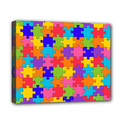 Funny Colorful Puzzle Pieces Canvas 10  X 8  by yoursparklingshop