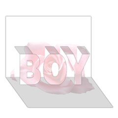 Pink White Love Rose Boy 3d Greeting Card (7x5) by yoursparklingshop