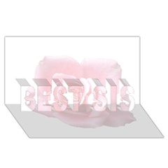Pink White Love Rose Best Sis 3d Greeting Card (8x4)  by yoursparklingshop