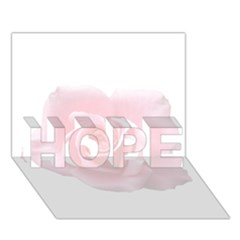 Pink White Love Rose Hope 3d Greeting Card (7x5)  by yoursparklingshop