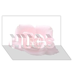 Pink White Love Rose Hugs 3d Greeting Card (8x4)  by yoursparklingshop