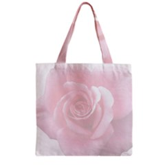 Pink White Love Rose Grocery Tote Bag by yoursparklingshop