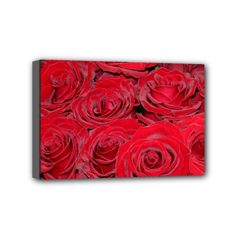 Red Love Roses Mini Canvas 6  X 4  by yoursparklingshop