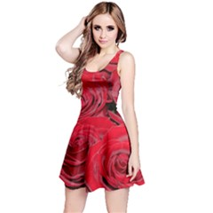Red Love Roses Reversible Sleeveless Dress by yoursparklingshop