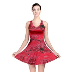 Red Love Roses Reversible Skater Dress by yoursparklingshop