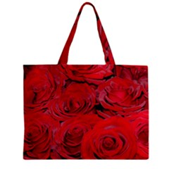 Red Love Roses Zipper Mini Tote Bag by yoursparklingshop
