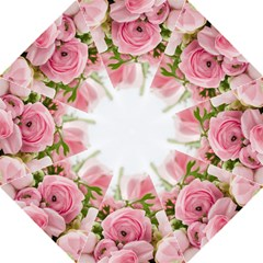 Romantic Pink Flowers Golf Umbrellas by yoursparklingshop