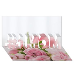 Romantic Pink Flowers #1 Mom 3d Greeting Cards (8x4)  by yoursparklingshop