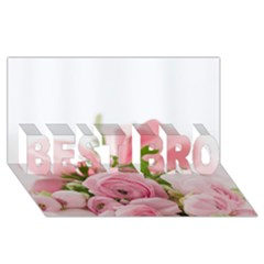 Romantic Pink Flowers Best Bro 3d Greeting Card (8x4)  by yoursparklingshop
