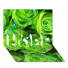 Festive Green Glitter Roses Valentine Love  Hope 3d Greeting Card (7x5)  by yoursparklingshop