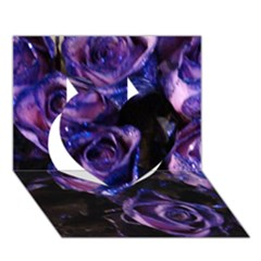 Purple Glitter Roses Valentine Love Heart 3d Greeting Card (7x5)  by yoursparklingshop