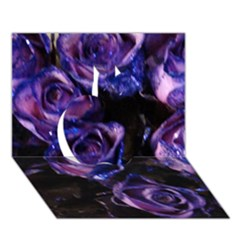 Purple Glitter Roses Valentine Love Apple 3d Greeting Card (7x5)  by yoursparklingshop
