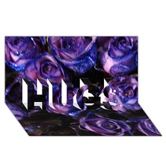 Purple Glitter Roses Valentine Love Hugs 3d Greeting Card (8x4)  by yoursparklingshop