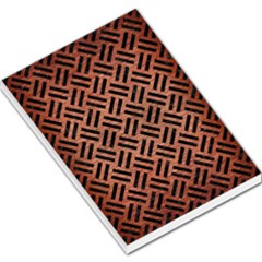 Woven2 Black Marble & Copper Brushed Metal (r) Large Memo Pads by trendistuff