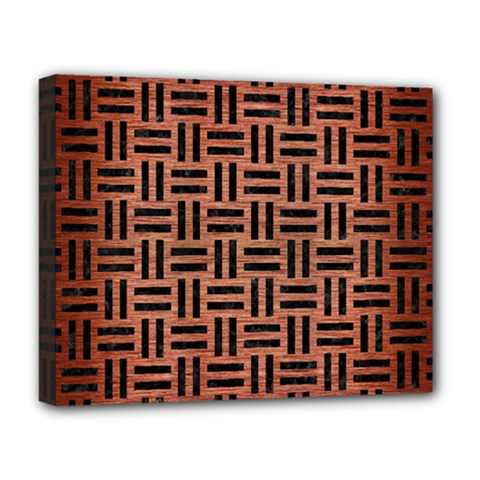 Woven1 Black Marble & Copper Brushed Metal (r) Deluxe Canvas 20  X 16  (stretched) by trendistuff