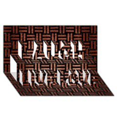 Woven1 Black Marble & Copper Brushed Metal Laugh Live Love 3d Greeting Card (8x4)