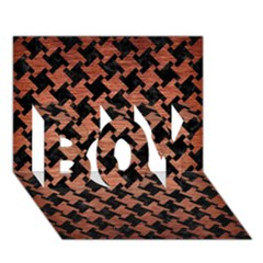Houndstooth2 Black Marble & Copper Brushed Metal Boy 3d Greeting Card (7x5) by trendistuff