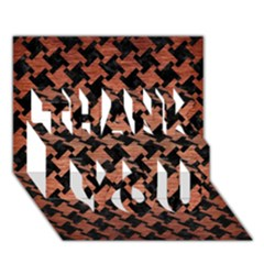 Houndstooth2 Black Marble & Copper Brushed Metal Thank You 3d Greeting Card (7x5) by trendistuff