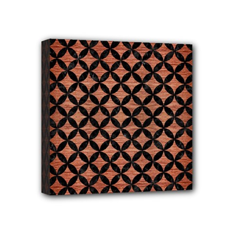 Circles3 Black Marble & Copper Brushed Metal (r) Mini Canvas 4  X 4  (stretched) by trendistuff