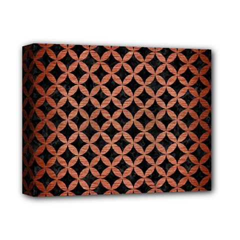 Circles3 Black Marble & Copper Brushed Metal Deluxe Canvas 14  X 11  (stretched) by trendistuff