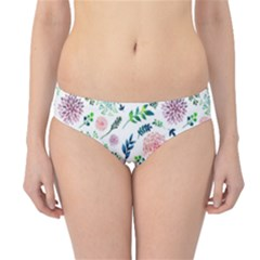 Hand Painted Spring Flourishes Flowers Pattern Hipster Bikini Bottoms by TastefulDesigns