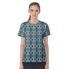 Tropical Blue Abstract Ocean Drops Women s Cotton Tee by yoursparklingshop