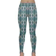 Tropical Blue Abstract Ocean Drops Yoga Leggings by yoursparklingshop