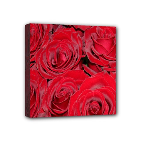 Red Roses Love Mini Canvas 4  X 4  by yoursparklingshop