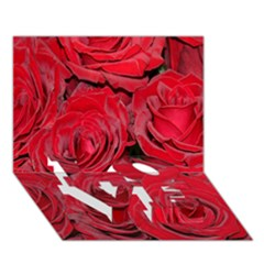 Red Roses Love Love Bottom 3d Greeting Card (7x5)  by yoursparklingshop