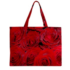 Red Roses Love Zipper Mini Tote Bag by yoursparklingshop
