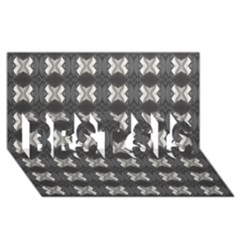 Black White Gray Crosses Best Sis 3d Greeting Card (8x4)  by yoursparklingshop