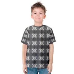 Black White Gray Crosses Kid s Cotton Tee by yoursparklingshop