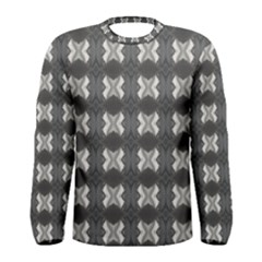 Black White Gray Crosses Men s Long Sleeve Tee by yoursparklingshop