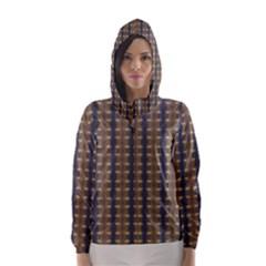 Black Brown Gold Stripes Hooded Wind Breaker (women) by yoursparklingshop