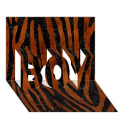 Skin4 Black Marble & Brown Burl Wood (r) Boy 3d Greeting Card (7x5) by trendistuff