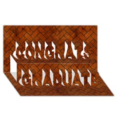 Brick2 Black Marble & Brown Burl Wood (r) Congrats Graduate 3d Greeting Card (8x4) by trendistuff