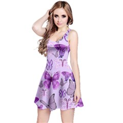 Purple Awareness Butterflies Reversible Sleeveless Dress by FunWithFibro