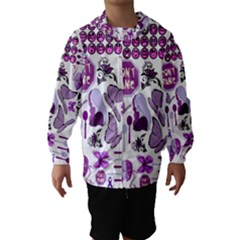 Fms Mash Up Hooded Wind Breaker (kids) by FunWithFibro
