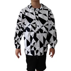 Shattered Life In Black & White Hooded Wind Breaker (kids)
