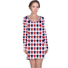 Patriot Stars Long Sleeve Nightdress by StuffOrSomething