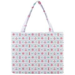 Seamless Nautical Pattern Mini Tote Bag