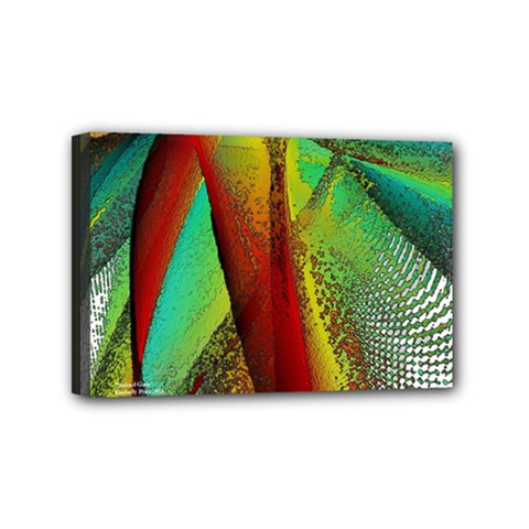 Stained Glass Window Mini Canvas 6  X 4  by SugaPlumsEmporium
